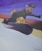 Snowboarding Paintings - Summer at Timberline Number One by Matthew Stennett