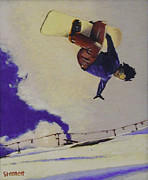 Snowboarding Paintings - Summer at Timberline Number Three by Matthew Stennett