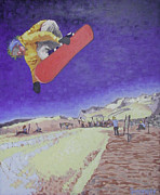Snowboarding Paintings - Summer at Timberline Number Two by Matthew Stennett
