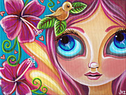 Yellow Fairy Painting Originals - Summer Bliss Fairy by Jaz Higgins