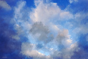 Cloudscape Digital Art - Summer Blue by Ron Jones