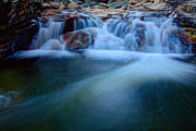 Stream Framed Prints - Summer Cascade Framed Print by Chad Dutson