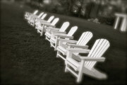 Kennebunkport Art - Summer Chairs by Paula Deutz