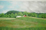 Farmland Painting Originals - Summer Day by Andrew Jagniecki