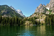 Dany Lison Metal Prints - Summer Day at Jenny Lake Metal Print by Dany Lison