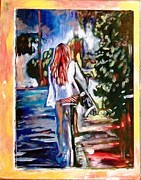 Surfer Girl Paintings - Summer Day by Kimberly Dawn Clayton