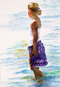 Young Girl Mixed Media Originals - Summer Daze by Barbara Jung