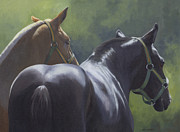 Horses Framed Prints - Summer Drafts Framed Print by Alecia Underhill