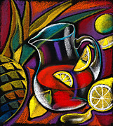 Fresh Fruit Painting Prints - Summer Drink Print by Leon Zernitsky