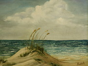 Sand Dunes Paintings - Summer Dunes by Darnell Nicovich