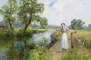 Pathway Painting Prints - Summer Print by Ernest Walbourn