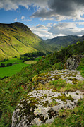 Wainwrights Framed Prints - Summer Evening Grisedale Valley Framed Print by Stewart Smith