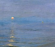 Coastal Paintings - Summer Evening by PS Kroyer