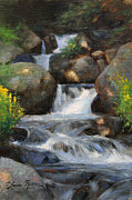 Falls Paintings - Summer Falls by Anna Bain