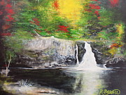 Arkansas Paintings - Summer Falls by Robert Ballance