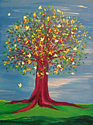 Fruit Tree Art Prints - Summer Fantasy Tree Print by First Star Art