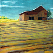 Farm Fields Painting Originals - Summer Farmland by Linda Apple