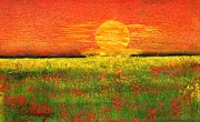 Field. Cloud Paintings - Summer Field I by Geegee W
