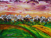Rockies Paintings - Summer Fields by James Bryron Love