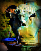 Fountain Photograph Posters - Summer Fountain Poster by Perry Webster