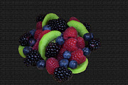 Kiwi Art Prints - Summer Fruit Medley Print by Michael Waters