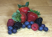 Raspberry Photo Originals - Summer Fruit by Michael Waters