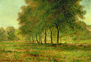 Meadow Painting Metal Prints - Summer Metal Print by George Snr Inness