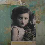 Little Girl Mixed Media - Summer Girl by Roberta Rose