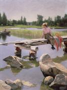 Serene Paintings - Summer by Gunnar Berndtson