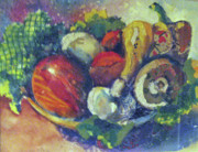 Lettuce Paintings - Summer Harvest by Bonnie Rosen