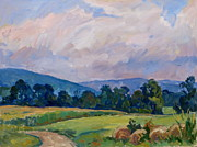 Abstract Realist Landscape Posters - Summer Haze Berkshires Poster by Thor Wickstrom
