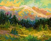 Alaska Painting Posters - Summer High Country Poster by Marion Rose