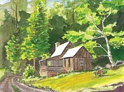 Side Porch Paintings - Summer Home by Rita Lackey