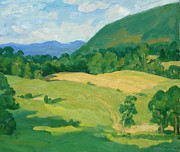Abstract Realist Landscape Art - Summer Idyll Berkshires by Thor Wickstrom