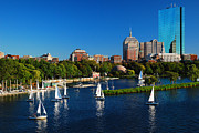 Charles River Prints - Summer in Boston Print by James Kirkikis