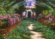 Pathway Paintings - Summer in Giverny by David Lloyd Glover