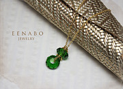 Gold Necklace Metal Prints - Summer in Green Metal Print by Eena Bo