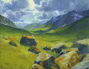 Alaska Painting Posters - Summer in Hatcher Pass Poster by Douglas Girard