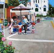 Church Street Art - Summer in Hingham by Laura Lee Zanghetti