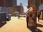 Featured Paintings - Summer in Manhattan 3 by Tate Hamilton