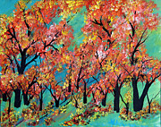 Tree Blossoms Paintings - Summer Intensity by Suzeee Creates