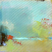 Abstract Landscape Art - Summer Landscape by Jacquie Gouveia