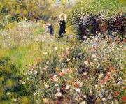 Picking Flowers Prints - Summer Landscape Print by Pierre Auguste Renoir