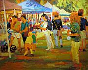 Market Paintings - Summer Market by Brian Simons