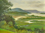 Constitution Paintings - Summer Morning Hudson Highlands by Phyllis Tarlow