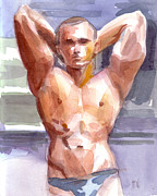 Homo-erotic Paintings - Summer Muscle by William Bryan