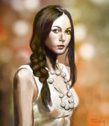 Brunette Digital Art - Summer Night City by Parag Pendharkar
