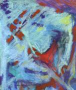Figural Pastels Originals - Summer Nightime 1 by Michal Rezanka
