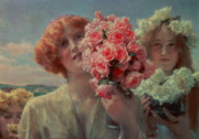 Maidens Prints - Summer Offering Print by Sir Lawrence Alma Tadema
