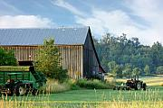 Farming Barns Posters - Summer on the Farm Poster by Barbara  White